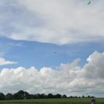Die Modelle beim Fliegen um die Pylonen.